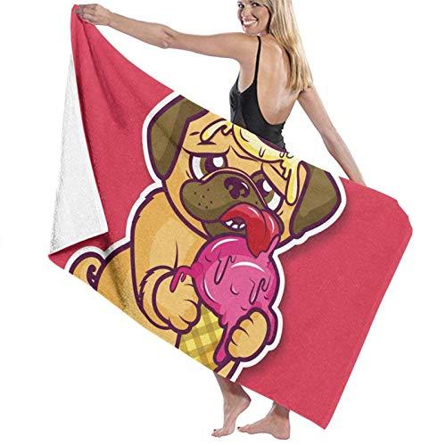 Olie Cam Toallas de baño de Helado para Perros Toalla de Ducha de Moda Toalla de Playa con Personalidad Toalla de natación Secado Suave y rápido