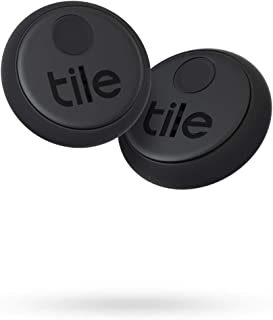 Tile Sticker (2020) 2-pack - Small, Adhesive Bluetooth Tracker, Item Locator and Finder for Remotes, Headphones, Gadgets a...