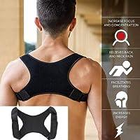 CLJ-LJ 新しい脊椎姿勢コレクター保護バックショルダー姿勢矯正バンドザトウクジラ背中の痛みの救済コレクターブレース (Color : Black)