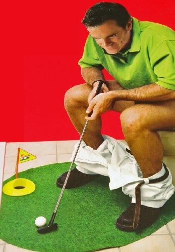 Potty Putter (das WC Golf-Set) + Golfball-Kugelschreiber | das Geschenk-Set im Bundle | über 30% gespart
