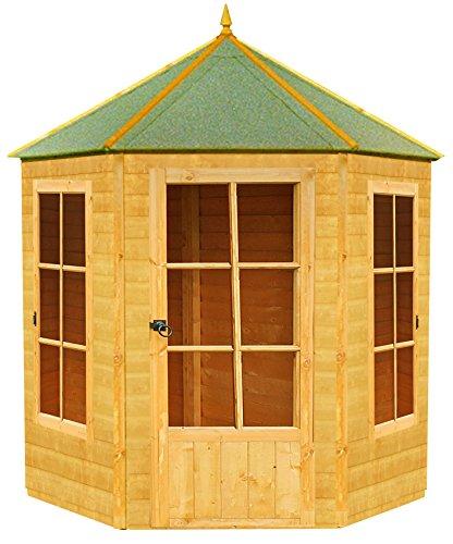 Shire Gazebo Summerhouse Summer House, Brown, 187x216x248 cm