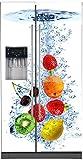 StickersNews - Adesivo per frigorifero americano, decorazione da cucina, modello Fruits, Fond Blanc, 100 x 180 cm