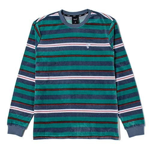 HUF WORLDWIDE Unveil Stripe Velour L/s Top lichte lange mouwen