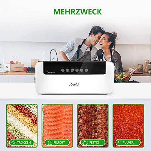 Macchina per sottovuoto Joerid Food Savers, sistema di sigillatura automatica e manuale, con luci a LED in modalità asciutta e umidità