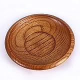 Platos redondos de estilo chino Platillo de madera para casas de vajilla ecológica Regalos veganos ecológicos