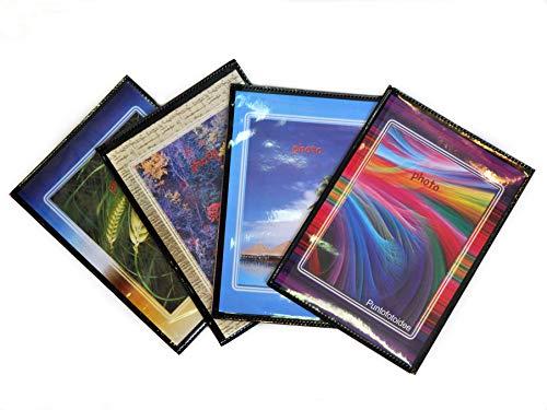 Lotto 10 album per 400 foto 10x15 cm (1 album x 40 foto) - set di 10 pezzi, colori assortiti, copertina personalizzabile.