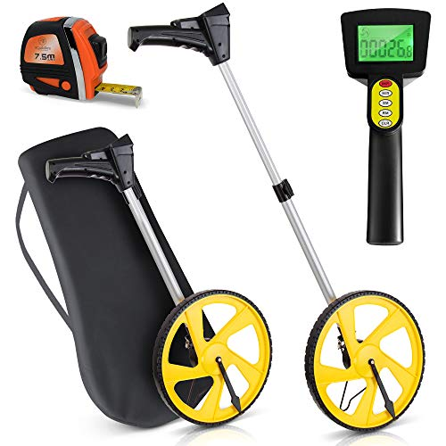 Scuddles Measuring Wheel Digital Display 12-Inch Can Measure Up To 10,000 Feet Perfect surveying Tool For Distance Measurment