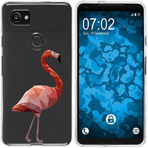 Preisvergleich Produktbild PhoneNatic Case kompatibel mit Google Pixel 2 XL Silikon-Hülle Vektor Tiere Flamingo M2