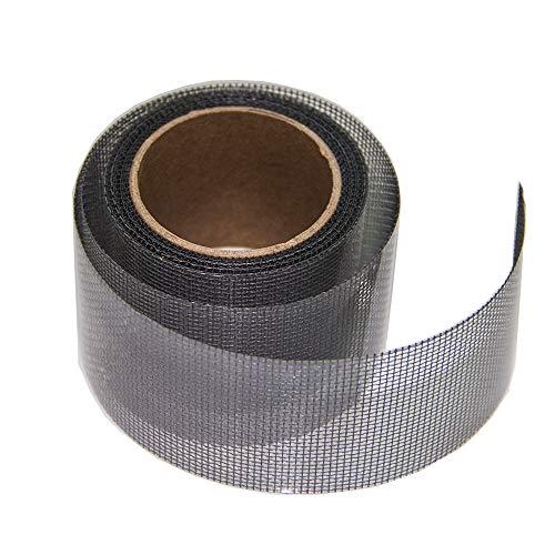 Loboo Idee 2x105 inch Screen Repair Kit. 3-laags sterke lijm & waterdicht Ideaal voor het direct bedekken van gaten en scheuren. Scherm Reparatie Tape voor venster en deurscherm. Glasvezel doek Mesh. 2x105 Inches Grijs
