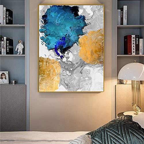 Caligrafía de lienzo abstracto minimalista moderno y caligrafía de pintura póster de pared modular impresión de imágenes arte de pared sala de estar decoración de pasillo imagen sin marco 45x60 cm