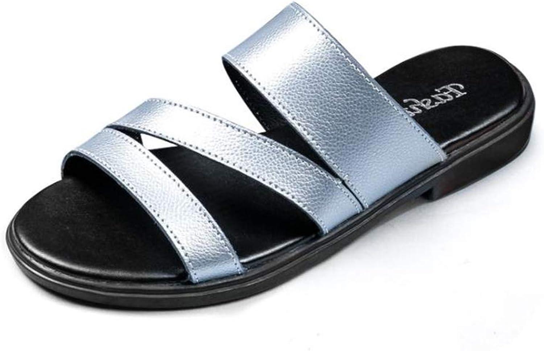 ALLAK Womens Glitter Fancy Slide Flat Low Wedge Sandals shoes Dream
