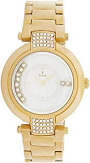 Sunex watch for women analog stainless steel gold white dial S6281GW