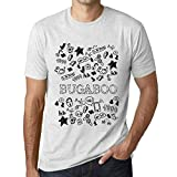 One in the City Hombre Camiseta Vintage T-Shirt Gráfico Doodle Art Bugaboo Blanco Moteado