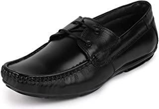 FAUSTO Men's Leather Formal Loafer Lace Up Shoes
