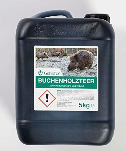Gehetec Qualitäts Buchenholzteer 5 Kg Kanister für Schwarzwild Mahlbaum Kirrung