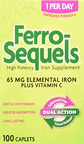 Ferro-Sequels High Potency Iron Supplement, 100 Count