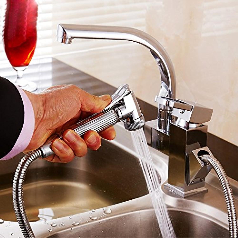 Gyps Faucet Waschtisch-Einhebelmischer Waschtischarmatur BadarmaturZiehen Küche Wasserhahn heie und kalte Gerichte Sowie Waschbecken - Skala Kupfer Becken die Hohe Waschen Schüssel Pool Wasseran