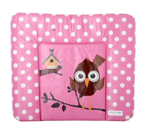 Osann Wickelauflage Wickelunterlage Soft Pink Birdy pink rosa mit weissen Punkten, Maß 70 x 85 cm, Füllung 450 g, Öko - Tex Standard 100 zertifiziert