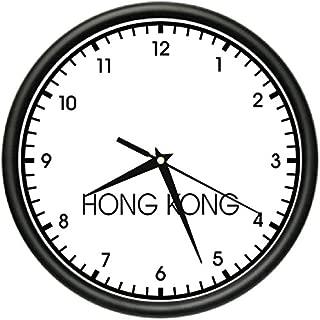 Hong Kong TIME Wall Clock World time Zone Clock Office Business