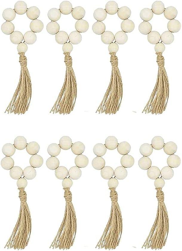 Xiweier Towel Outlet SALE excellence Rings Buckle Bead Wood Napkin Handmade