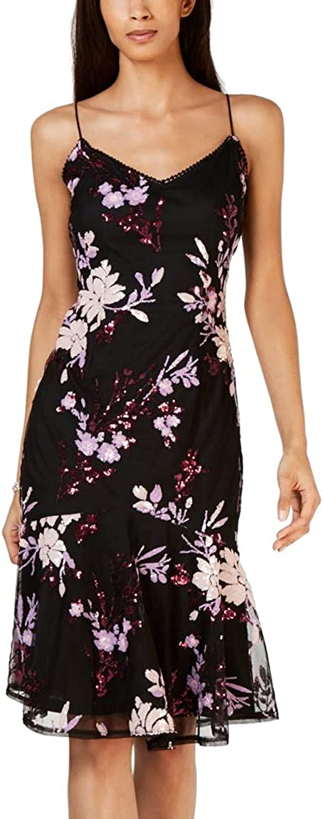 Adrianna Papell Women's Floral Sequin Dress