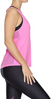 Rockwear Activewear Women's Aloha Mix Mesh Elastic Back Singlet Neon Pink 6 from Size 4-18 for Singlets Tops