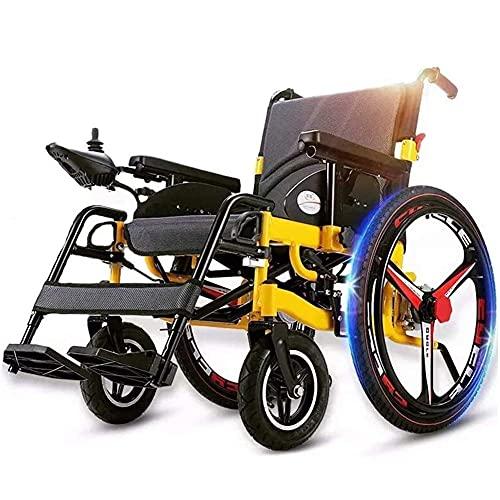 WXDP Silla de ruedas portátil plegable eléctrica autopropulsada de alto rendimiento con ruedas grandes, potencia eléctrica o manipulación manual, respaldo ajustable y pedal motorizado