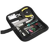 SH-RuiDu Kit de herramientas de reparación de guitarra 22 unids/set herramientas de mantenimiento con bolsa de transporte para guitarra ukelele mandolina