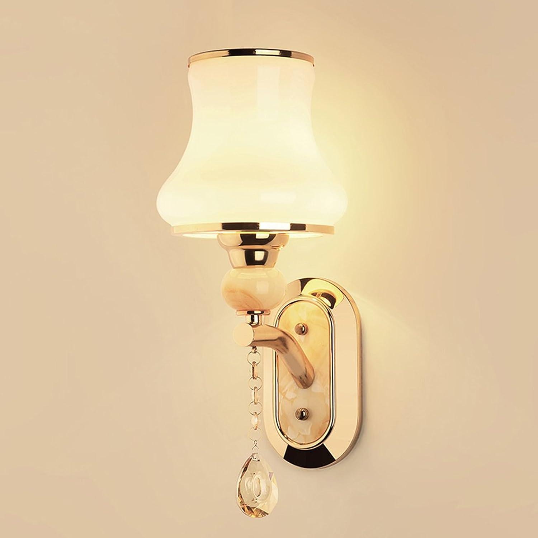 QARYYQ Wandlampe Schlafzimmer Nachttischlampe führte einfache Moderne kreative europischen amerikanischen Wohnzimmer Ganglichter Wandleuchte