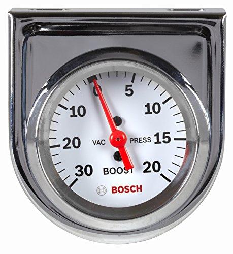 "Actron SP0F000042 Bosch Style Line 2"" Mechanical Vacuum/Boost Gauge (White Dial Face, Chrome Bezel)"