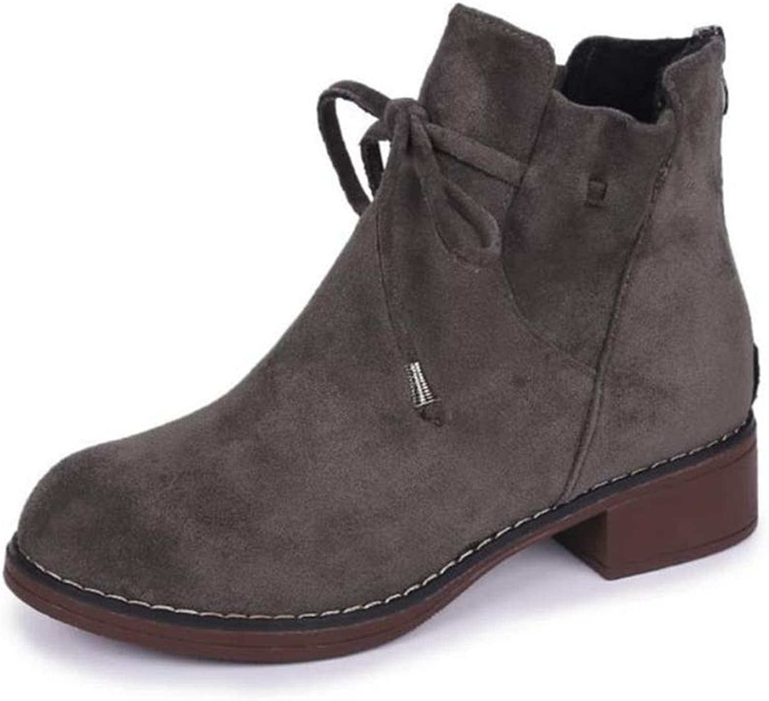 Women Lucky Boot, Womens Fashion High Heel Lace Up Ankle Boots Lady Buckle Platform shoes