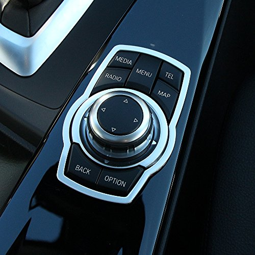 AndyGoCar Interior Multimedia Buttons Cover Molding Trim Fit for BMW 1 3 4 5 7 Series X1 X3 X4 X5 X6 2013-2018 E81 E87 F30 F31 F34 F32