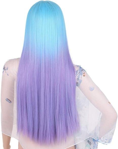 Haare blau lila dunkelrote lila