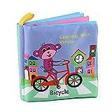 Livre de dessin animé pour bébé en tissu doux, sûr et non toxique, jouet sensoriel pour bébé avec couleur vive, éducatif précoce pour bébé de 0 à 3 ans - Noir -