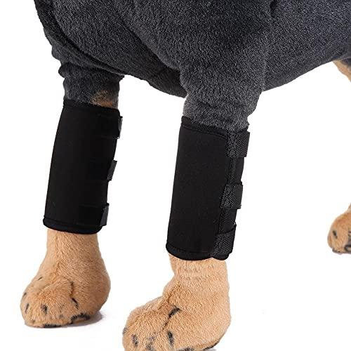 KKAAMYND 2 Uds Protector De Codo for Mascotas Que Protege La Pierna del Perro Cirugía De Perro Protector De Heridas Envoltura De La Pierna Protege Las Rodilleras De Apoyo (Size : L)