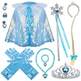EYE-CATCHING STYLE - Our frozen costume accessories are all dubbed with blue gem, dashing and shiny. Blue and White are the classic colors of Elsa. As if your kid were the princess once she dressed up. VARIOUS APPLICATIONS - Our princess costume acce...