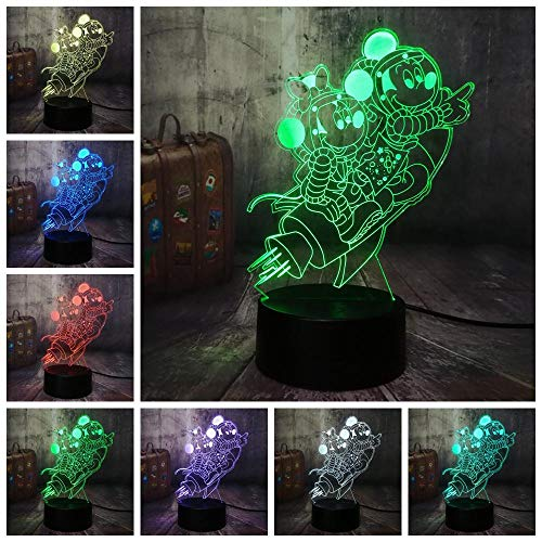 Mickey Mouse en Minnie 3D LED nachtlampje 7 kleuren tafellamp familie party decoratie kinderen verjaardagscadeau
