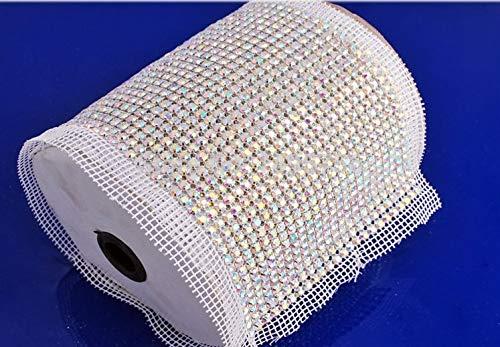 Buy Bargain 5 Yard SS20 AB Color Rhinestone Sew On Mesh Fabric-Rhinestones Mesh Trim-Sew On Rhinesto...