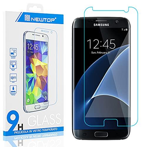 N NEWTOP [1 PEZZO] Pellicola GLASS FILM Compatibile con Samsung Galaxy S7, Fina 0.3mm Durezza 9H Vetro Temperato Proteggi Schermo Display Protettiva Anti Urto Graffio Protezione