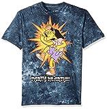 Liquid Blue Men's Simpsons Metal Rules Short Sleeve T-Shirt, Multi Tie Dye, X-Large