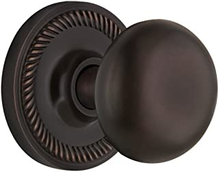 "Nostalgic Warehouse Rope Rosette with New York Knob, Passage - 2.75"", Timeless Bronze"