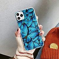 Monarch Blue Butterfly INS新しい電話ケース Se2ソフトTPUケースカバー