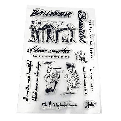 WuLi77 Silikonstempel, Ballett Clear Stamps - DIY Stempel Für DIY Album Scrapbooking Fotokarten Dekor