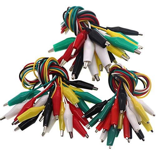 Nuluxi Krokoklemmen mit Kabel Krokoklemmen Multimeter Werkzeuge Doppelseitige Krokodilklemme Flexibel Sicherheit Spezialitäten Set Geeignet für den Einsatz in Labors und Schulen-3 Größen (30 Stück)