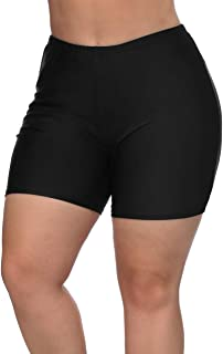77589974edd eulo Plus Size Swim Shorts Long High Waist Swimsuits Bathing Suit  Boardshorts Quick Dry