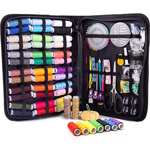 XL Premium Sewing KIT – Complete Needle and Thread Kit for Sewing with 38 Color Threads – Sewing Kits for Adults for Quick Fixes– Travel Sewing Kit for On The Go Repairs, Small Sewing Kit Easy to Use