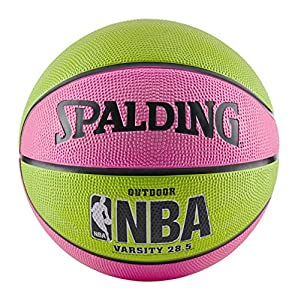 Pink/Green Traditional rubber cover Official WNBA size & weight Designed for outdoor play Recommended inflation is 8 PSI