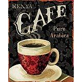 なまけ者雑貨屋 Kenya Pure Cafe メタルプレート アンティーク な ブリキ の 看板、レトロなヴィンテージ 金属ポスター