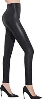 Pelisy Womens Faux Leather High Waisted Leggings Stretchy Skinny Leather Pants