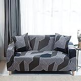 MKQB Funda de sofá de celosía geométrica Cuadrada, Funda de sofá elástica de combinación de Esquina para Sala de Estar, Funda de sofá de protección para Mascotas n. ° 13 XL (235-300cm)